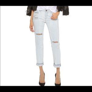 Paige Porter Mid Rise Boyfriend Straight Jeans